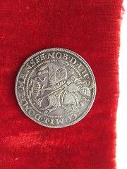 талер мансфельд 1593г. серебро 30 гр отличное состояние